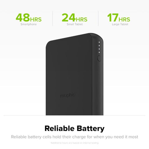 MOPHIE CHARGE STREAM POWERSTATION WIRELESS XL 10,000MAH PORTABLE BATTERY