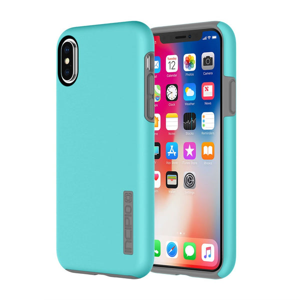 INCIPIO DUALPRO PROTECTIVE CASE FOR IPHONE X - TURQUOISE/CHARCOAL
