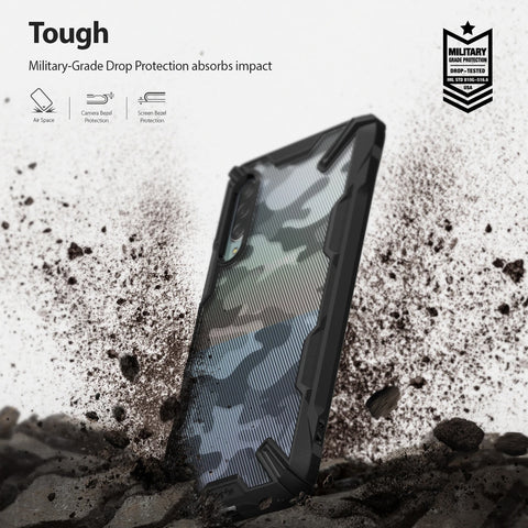 Ringke Fusion X Design Rugged Case For Galaxy A90 5G - Camo Black