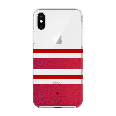 Shop Australia stock KATE SPADE NEW YORK PROTECTIVE HARDSHELL CASE FOR IPHONE XS/X - CHARLOTTE STRIPE RED/GLITTER RED with free shipping online. Shop Kate Spade New York collections with afterpay