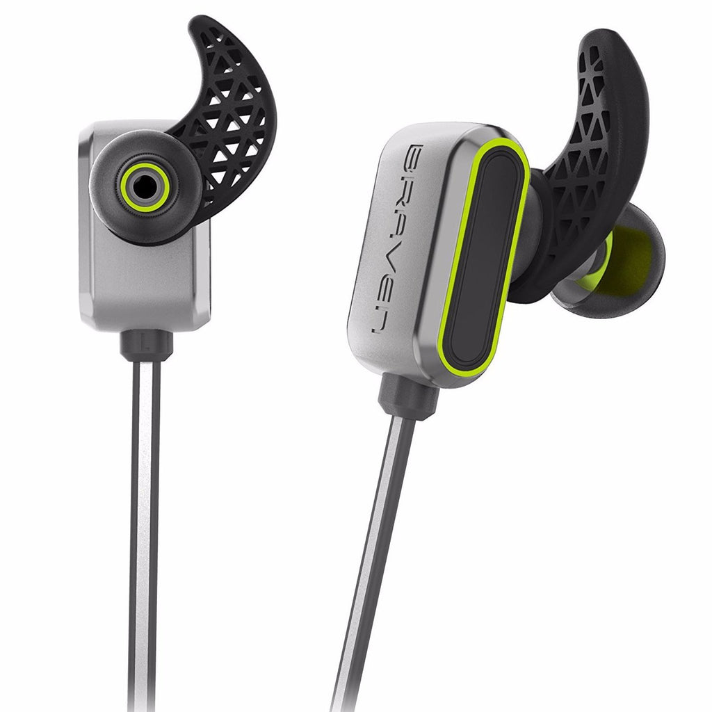 place to buy BRAVEN FLYE SPORT REFLECT WIRELESS WATER-RESISTANT EARBUDS - SILVER/GREEN australia Australia Stock