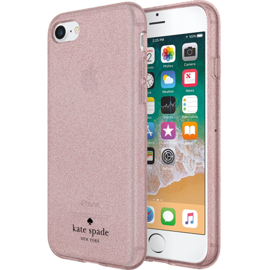 buy cute and fashionable Kate Spade New York Flexible Glitter Case For Iphone 8/7/6S - Rose Gold authorized distributor and free shipping australia Australia Stock