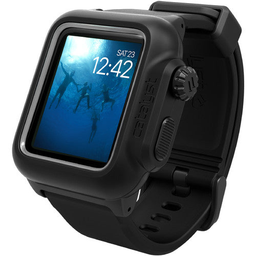 CATALYST WATERPROOF SHOCK RESISTANT CASE FOR APPLE WATCH 38MM SERIES 3/2  - BLACK