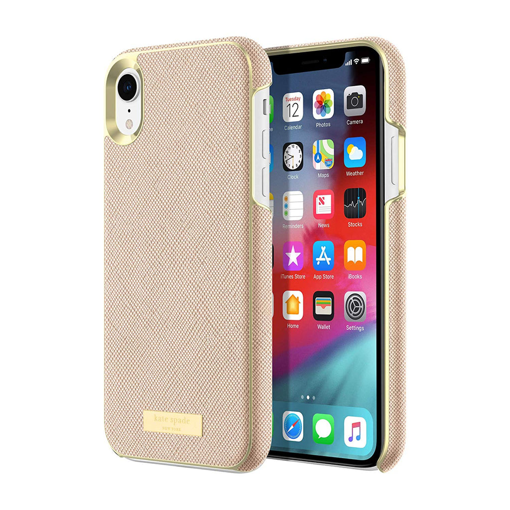 pretty nice abf90 cedf2 KATE SPADE NEW YORK WRAP CASE FOR IPHONE XR - SAFFIANO ROSE GOLD