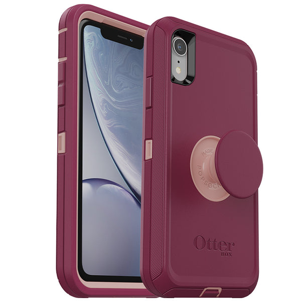 pink premium case with pop for iphone xr