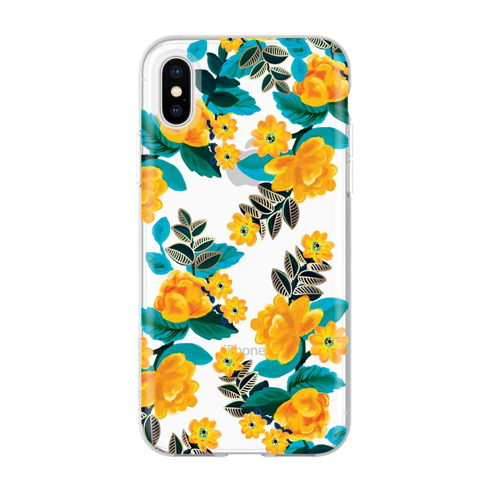 colourful iPhone XS Max yellow green flower pattern case from Incipio Australia Stock