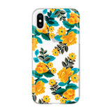 colourful iPhone XS Max yellow green flower pattern case from Incipio