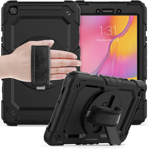 rugged case with handstrap for samsung galaxy tab a 8.0 2019