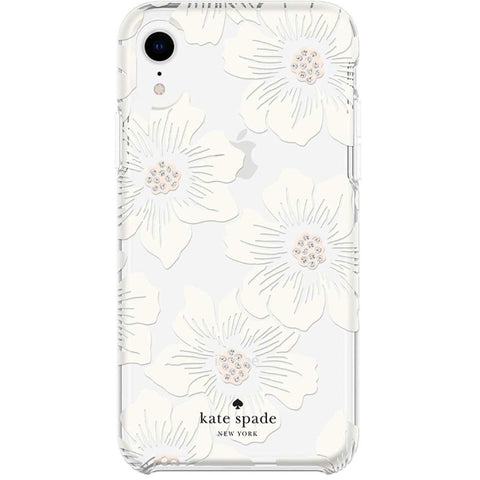 hardshell flower pattern case for iphone xr. hollyhock from kate spade australia with afterpay payment and free express shipping.