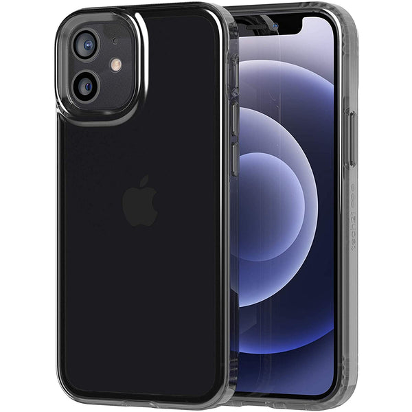 protect your new iphone 12 mini from virus and bacteri with tech21 slim case black colour. make your device look cool and stay protect