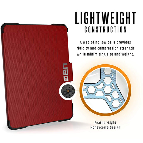 UAG METROPOLIS RUGGED FOLIO CASE FOR IPAD PRO 11-INCH - MAGMA