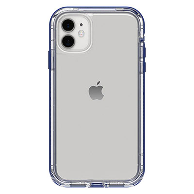 back view iphone 11 case from lifeproof with blue bumper Australia Stock