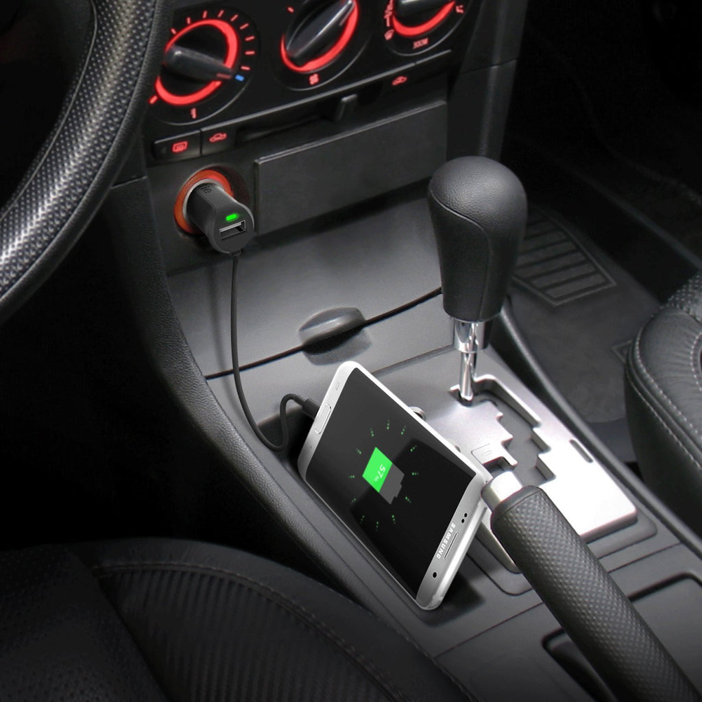 sleek design with led indicator micro usb car charger Australia Stock
