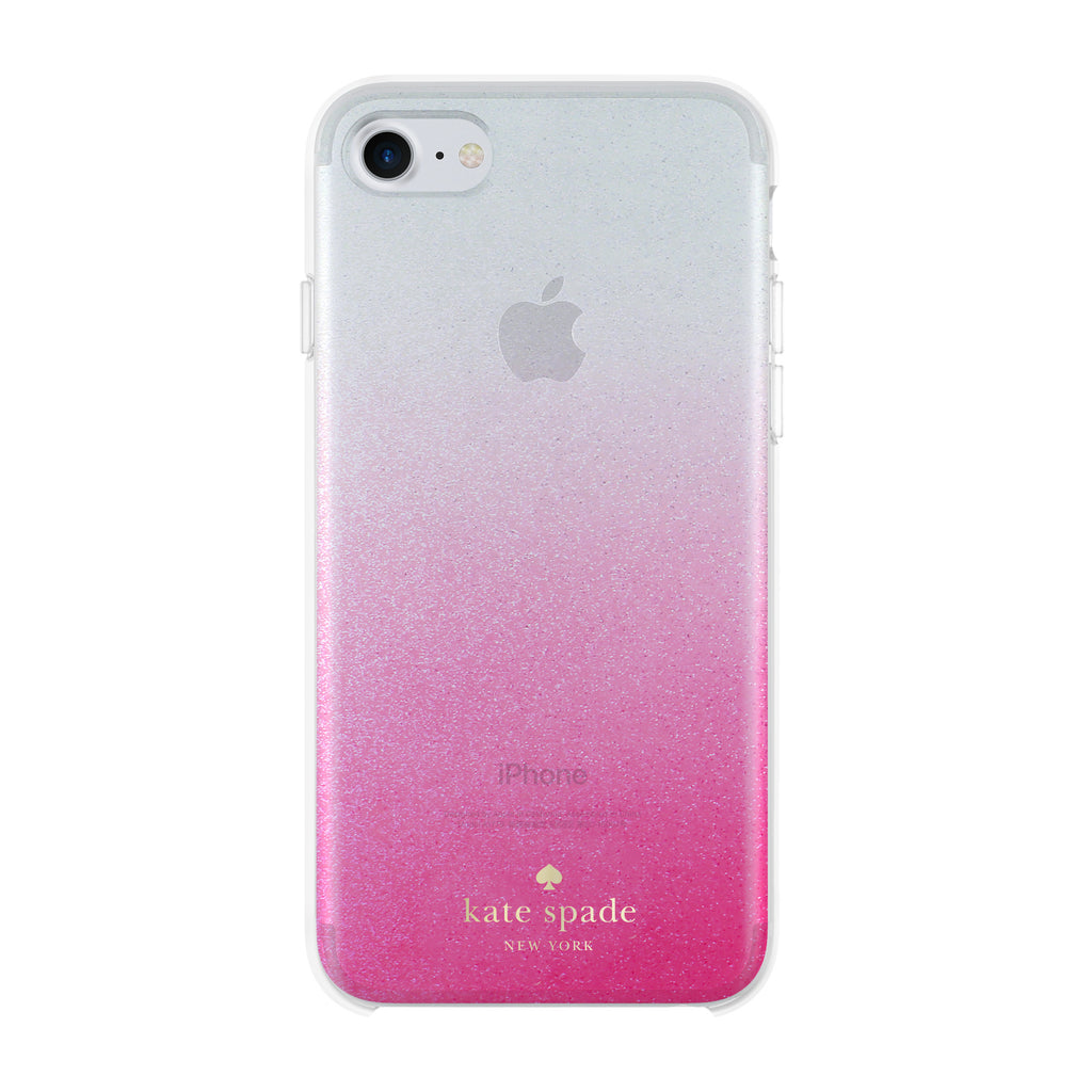 buy genuine KATE SPADE NEW YORK HARDSHELL CASE FOR iPHONE 8/7 GLITTER OMBRE PINK free shipping australia Australia Stock