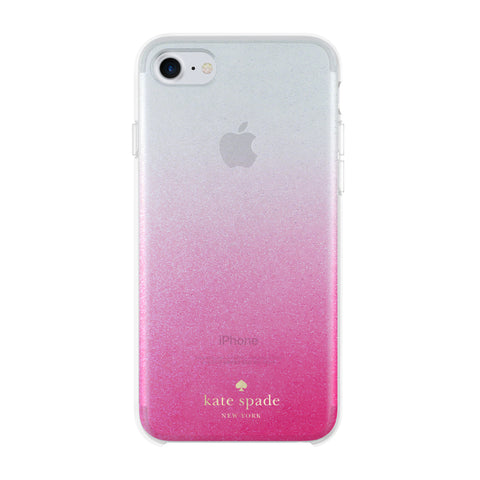 buy genuine KATE SPADE NEW YORK HARDSHELL CASE FOR iPHONE 8/7 GLITTER OMBRE PINK free shipping australia