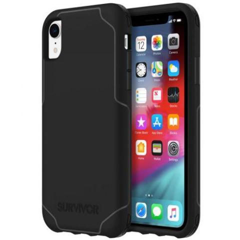 strong case black colour for iphone xr with free shipping.