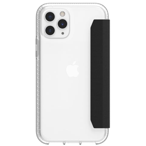 back view iphone 11 pro max card case clear
