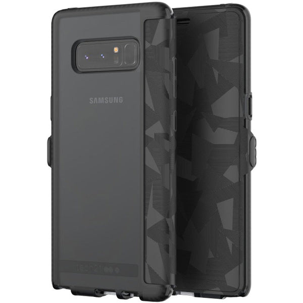 buy tech21 evo wallet flexshock card folio case for galaxy note 8 - black australia