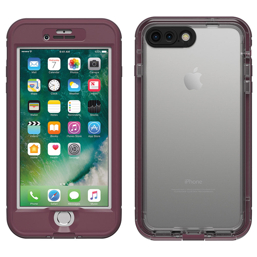 the best attitude 6c53d 9e74e Lifeproof Nuud Waterproof Case for iPhone 7 Plus - Purple/Berry