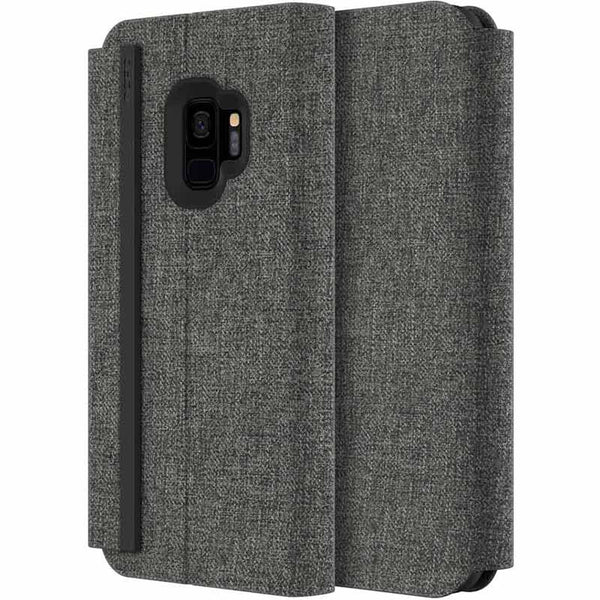INCIPIO CARNABY ESQUIRE FABRIC CARD FOLIO CASE FOR GALAXY S9 - GRAY
