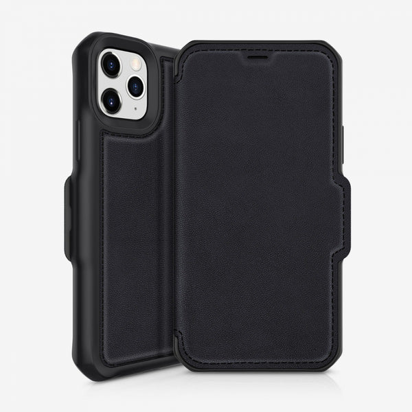 Folio case for iPhone 12 Pro/12 from itskins with black minimalist design, now comes with free express shipping Australia wide.
