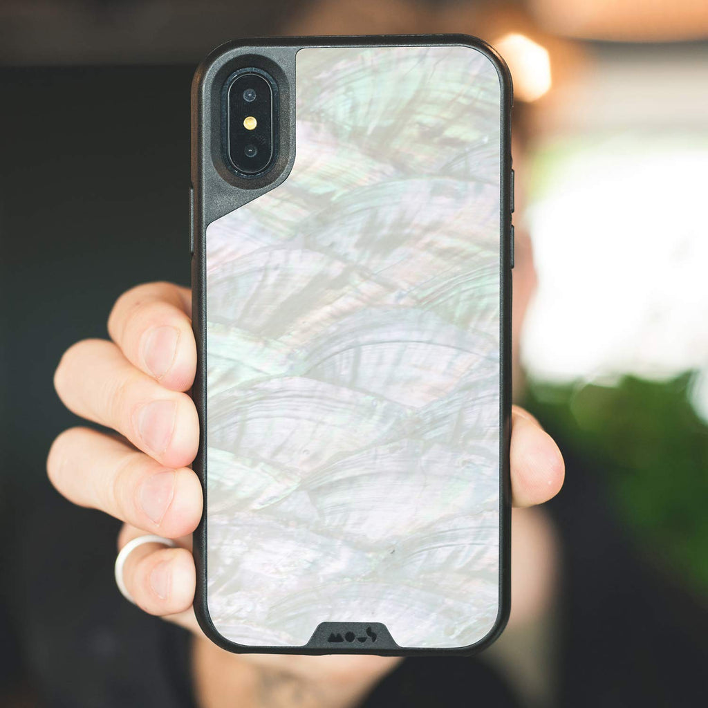 hot sale online 6baac 86067 Iphone Xs Max Mous Limitless 2.0 Airoshock Protective Case - White