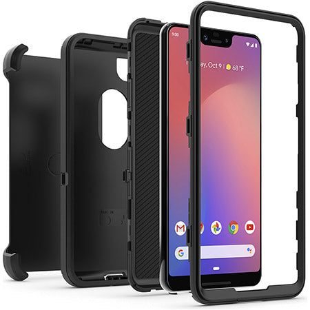 Grab it fast while stock last DEFENDER SCREENLESS EDITION RUGGED CASE FOR GOOGLE PIXEL 3 XL BLACK COLOUR from OTTERBOX with free shipping Australia wide.