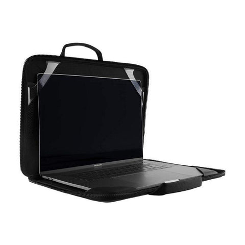 Buy new sleeve laptop/macbook compatible size up to 13 inch with black minimalist design. Now comes with free shipping and afterpay payment available.