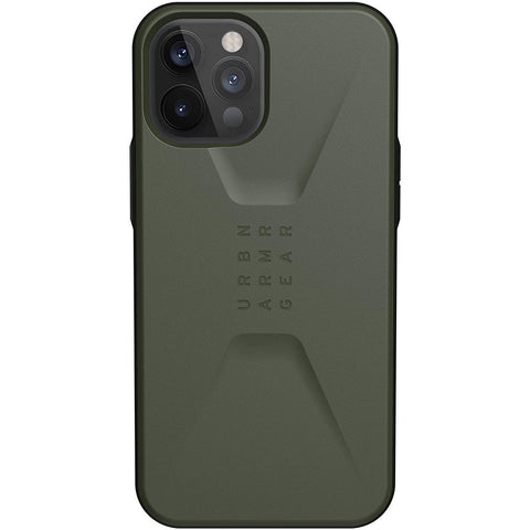 "Buy New iPhone 12 Pro Max (6.7"") UAG Civilian Sleek Ultra Slim Rugged Case - Olive Drab authentic accessories with afterpay & Free express shipping."