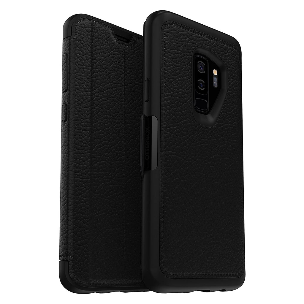 check out 4997b a3754 OTTERBOX STRADA LEATHER FOLIO CASE FOR GALAXY S9 PLUS - SHADOW