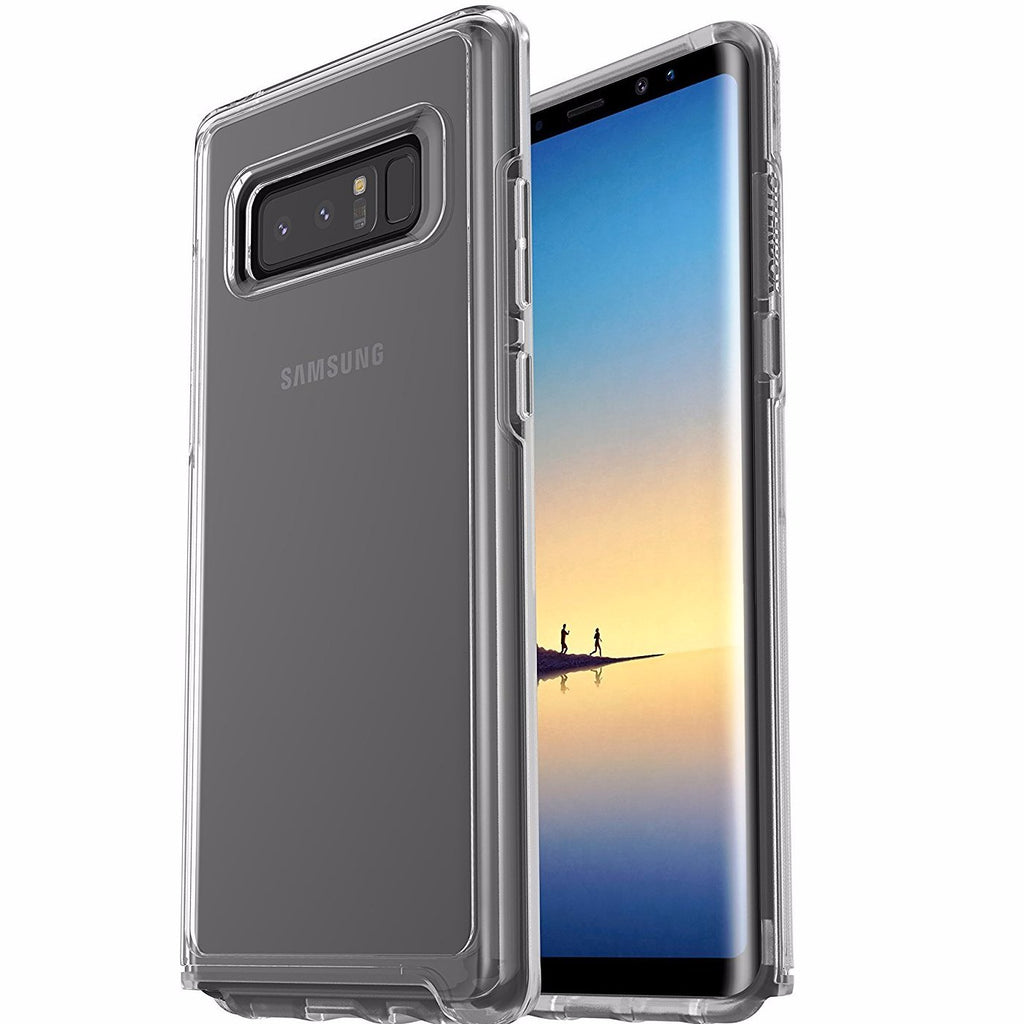 Place to buy see through tough cases from Otterbox Symmetry Slim Sleek Stylish Case For Galaxy Note 8 - Clear. Free express shipping Australia wide. Australia Stock
