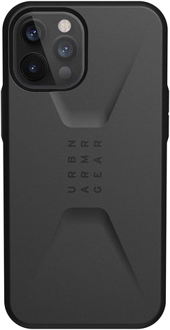 "Shop off your new iPhone 12 Pro Max (6.7"") UAG Civilian Sleek Ultra Slim Rugged Case - Black with free shipping Australia wide."