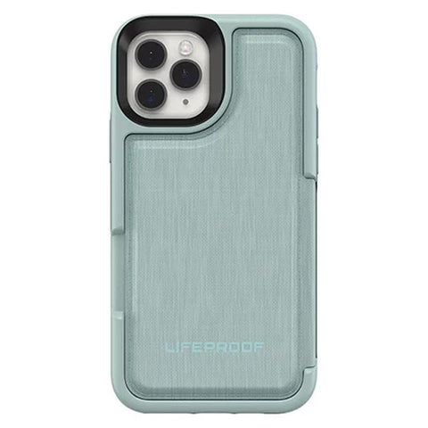 flip folio case back view from lifeproof for iphone 11 pro with green colour tone