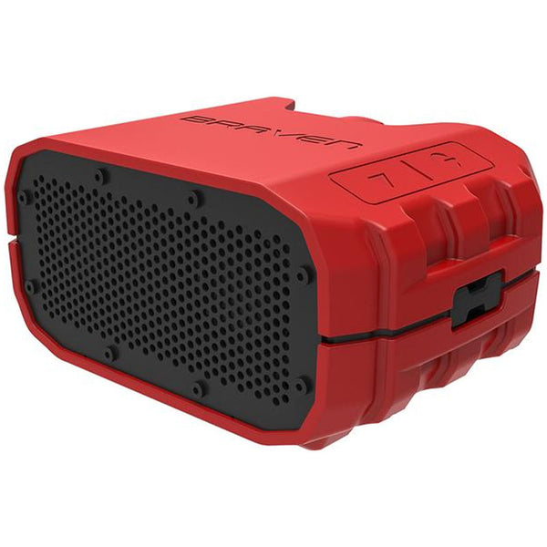 braven brv-1 wireless bluetooth speaker [waterproof] - fire red/gray