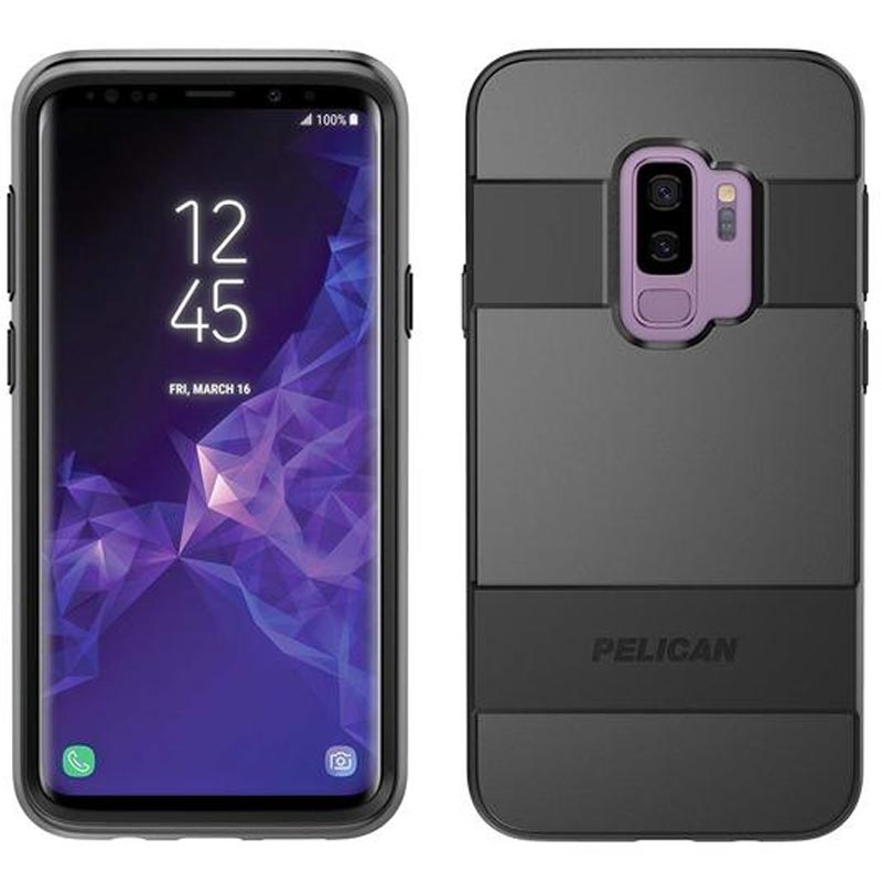 new styles a5e8c aa33d PELICAN VOYAGER CASE W/SCREEN PROTECTOR FOR GALAXY S9 PLUS - BLACK