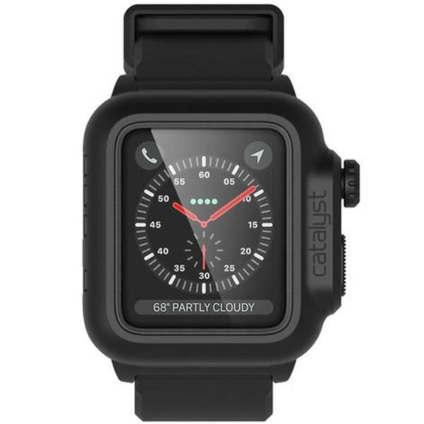 CATALYST WATERPROOF SHOCK RESISTANT CASE FOR APPLE WATCH 42MM SERIES 3/2 BLACK