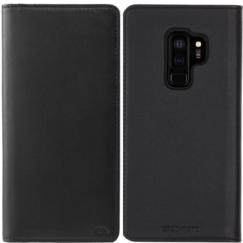 outlet store 055f7 1d5b9 CASEMATE WALLET LEATHER CARD FOLIO CASE FOR GALAXY S9 PLUS - BLACK