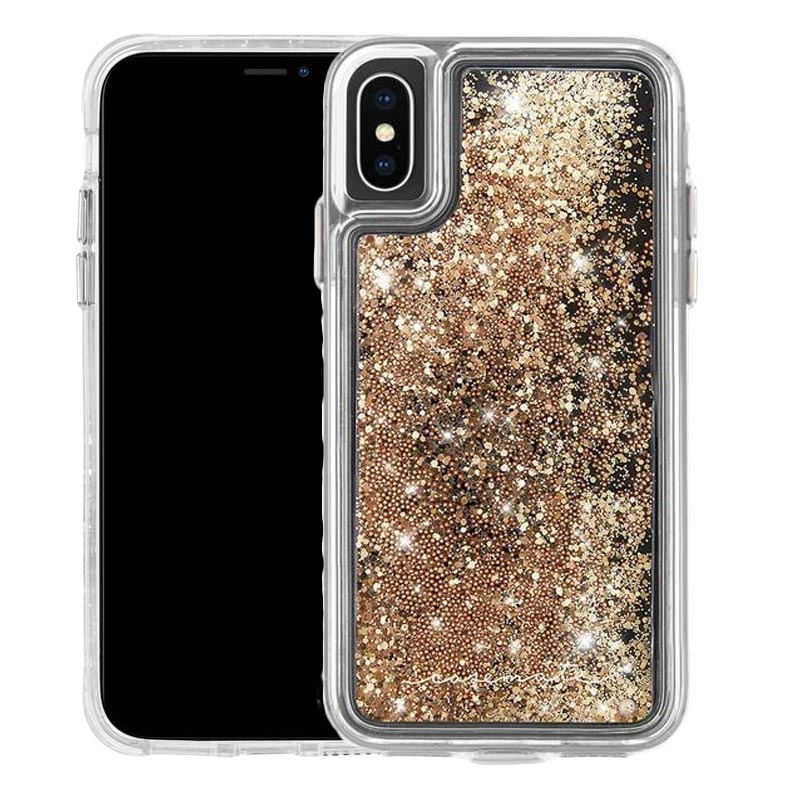 new style ae07a 6c4d6 CASEMATE WATERFALL GLITTER CASE FOR IPHONE XS/X - GOLD