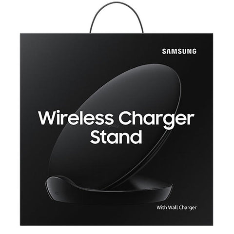 SAMSUNG FAST CHARGE WIRELESS CHARGER STAND WITH TRAVEL CHARGER FOR GALAXY QI ENABLED DEVICE - BLACK