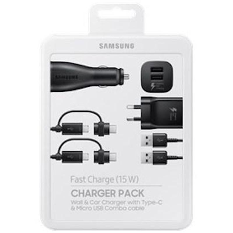 Samsung Charger Pack With Wall And Car Charger Plus Two Type-c/micro Combo Cables Australia Australia Stock