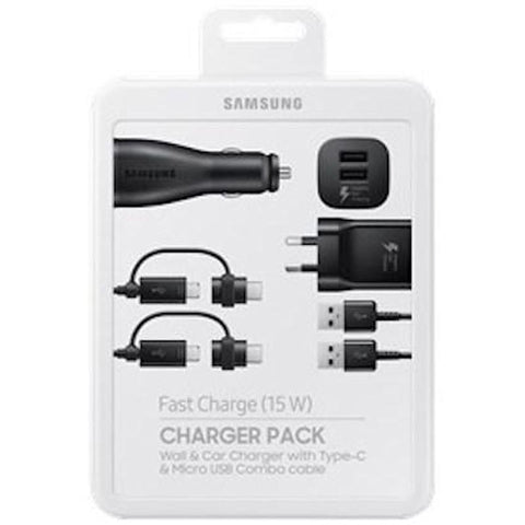 Samsung Charger Pack With Wall And Car Charger Plus Two Type-c/micro Combo Cables Australia