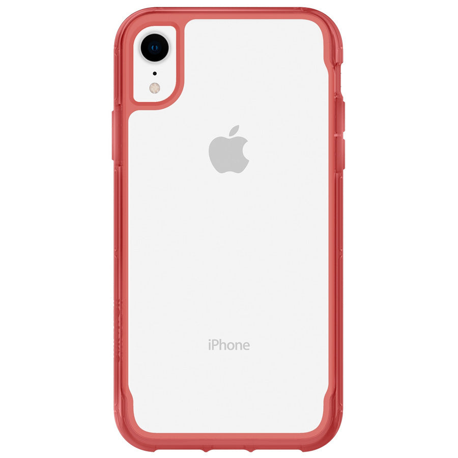 GRIFFIN SURVIVOR CLEAR CASE FOR IPHONE XR - CLEAR/TOMATO Australia Stock