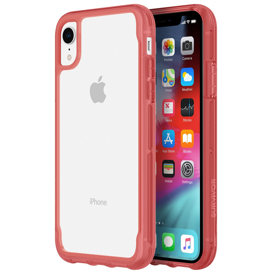 IPHONE XR clear case pink red from Griffin Australia. Shop online & pay with afterpay Australia Stock