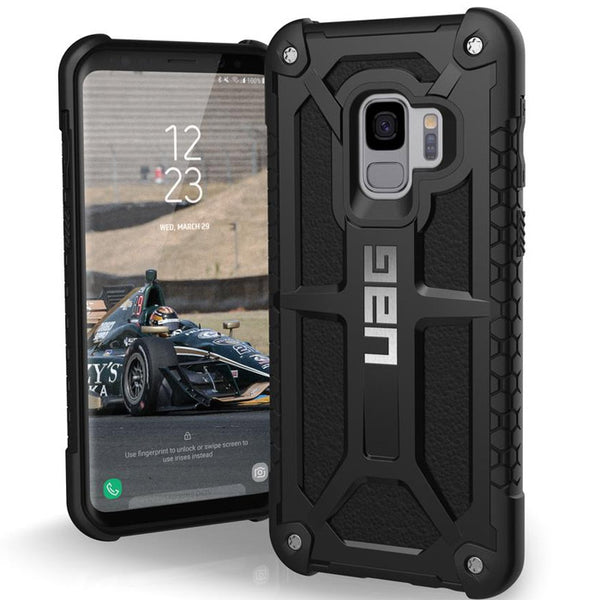 UAG MONARCH HANDCRAFTED LEATHER ALLOY CASE FOR GALAXY S9 - BLACK