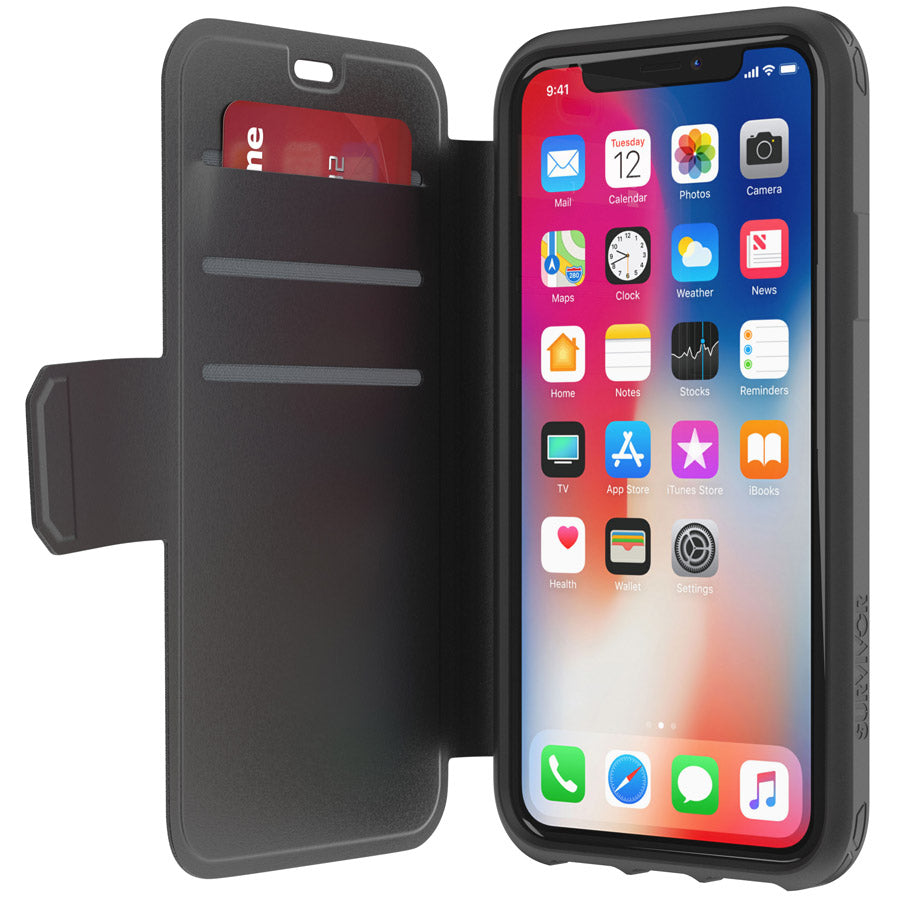 buy new griffin survivor strong case for iPhone X with extra storage Australia Stock
