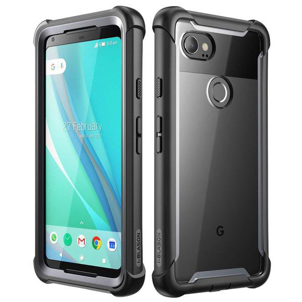 Get the latest ARES FULL-BODY RUGGED CLEAR CASE FOR GOOGLE PIXEL 2 XL - BLACK/CLEAR I-BLASON with free shipping online.