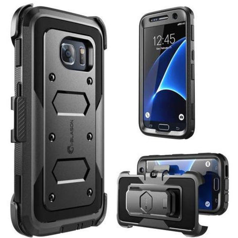 Get the latest stock ARMORBOX DUAL LAYER HYBRID FULL-BODY CASE FOR GALAXY S7 - BLACK FROM I-BLASON free shipping & afterpay.