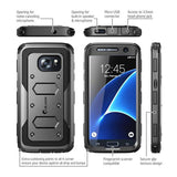 I-BLASON ARMORBOX DUAL LAYER HYBRID FULL-BODY CASE FOR GALAXY S7 - BLACK