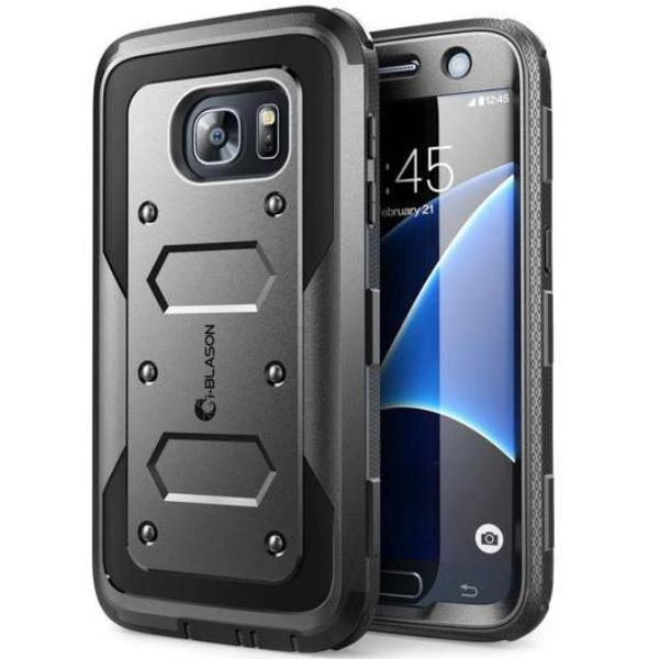 Grab it fast ARMORBOX DUAL LAYER HYBRID FULL-BODY CASE FOR GALAXY S7 - BLACK FROM I-BLASON with free shipping Australia wide. Australia Stock