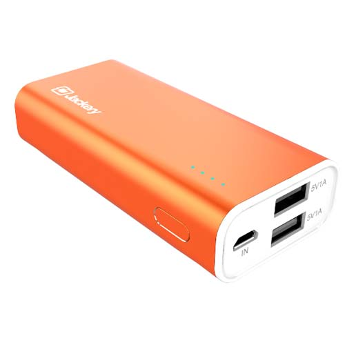 buy Jackery FORCE 115 5200mAH Portable Battery Dual USB Output 5V/2.1A - Orange australia